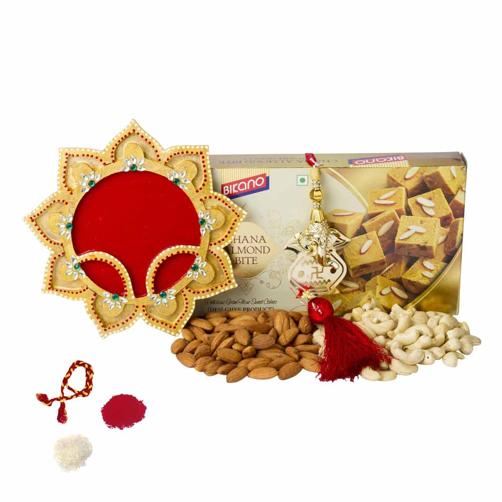 Bikanervala Chana Almond Bite n Nuts with Bhai Dooj Thali