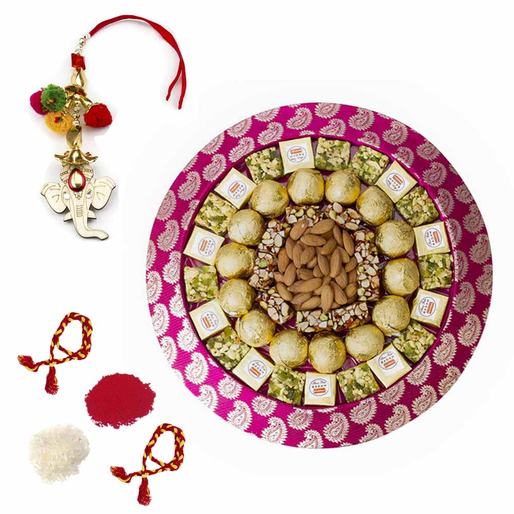 Bikanervala Nuts Mania tray with Bhai Dooj for 2 brothers