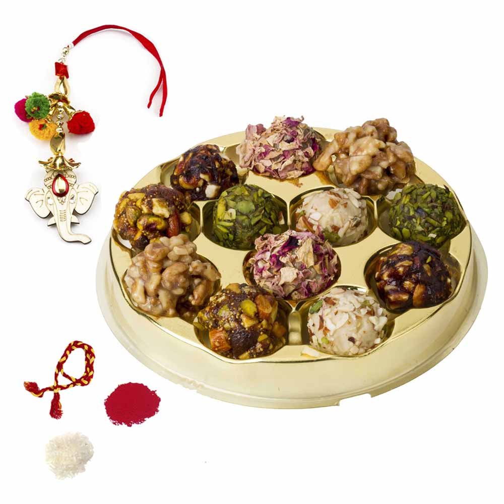 Bikanervala Assorted Exotic Dry fruit Ladoo Bhai Dooj Hamper
