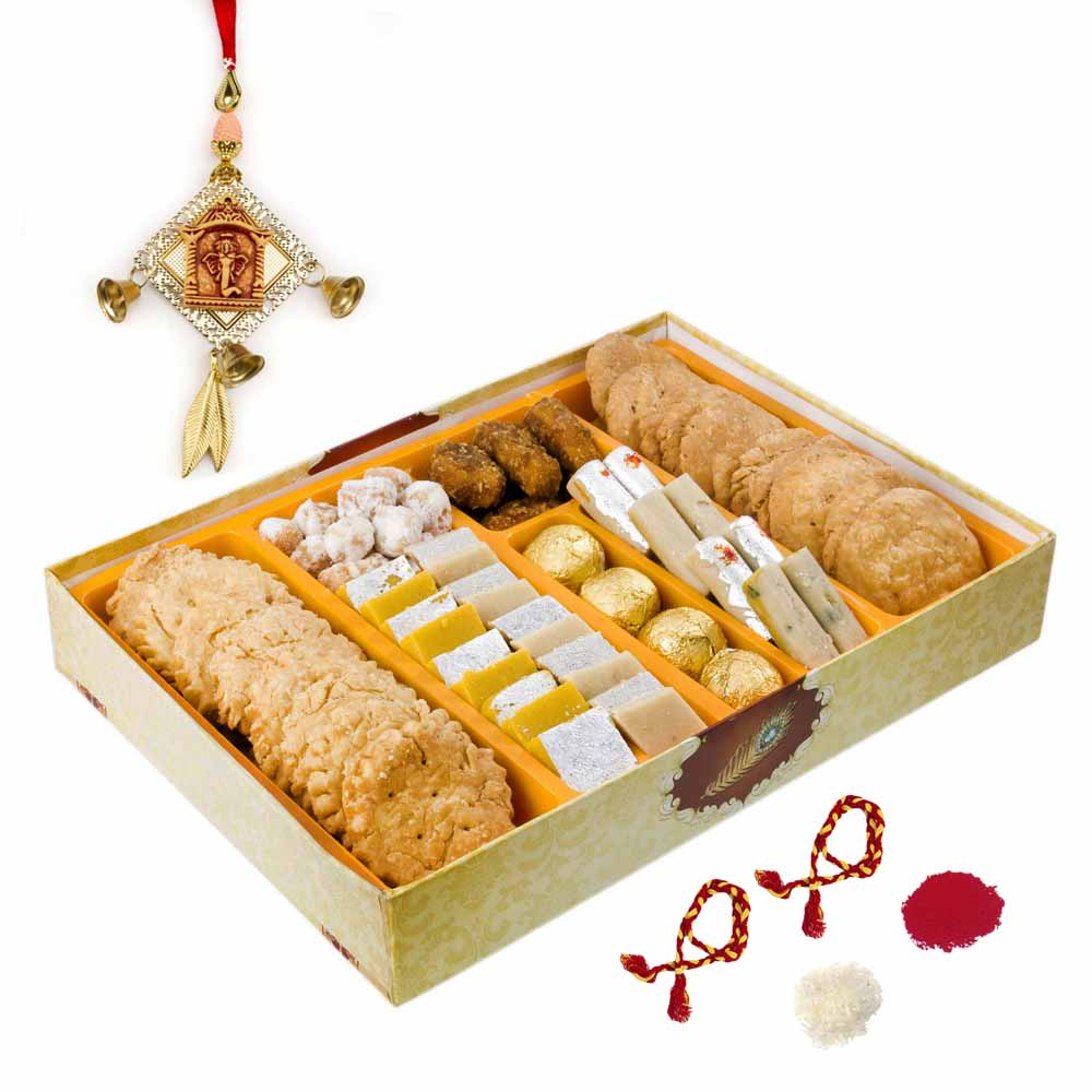 Bikanervala Sweet Traditions Bhai Dooj Indulgence for 2 brothers