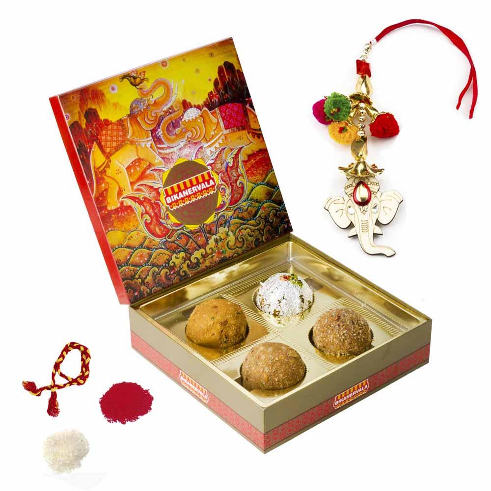 Bhai Dooj Gifts-Bikanervala Shahi Ladoo Bhai Dooj Hamper