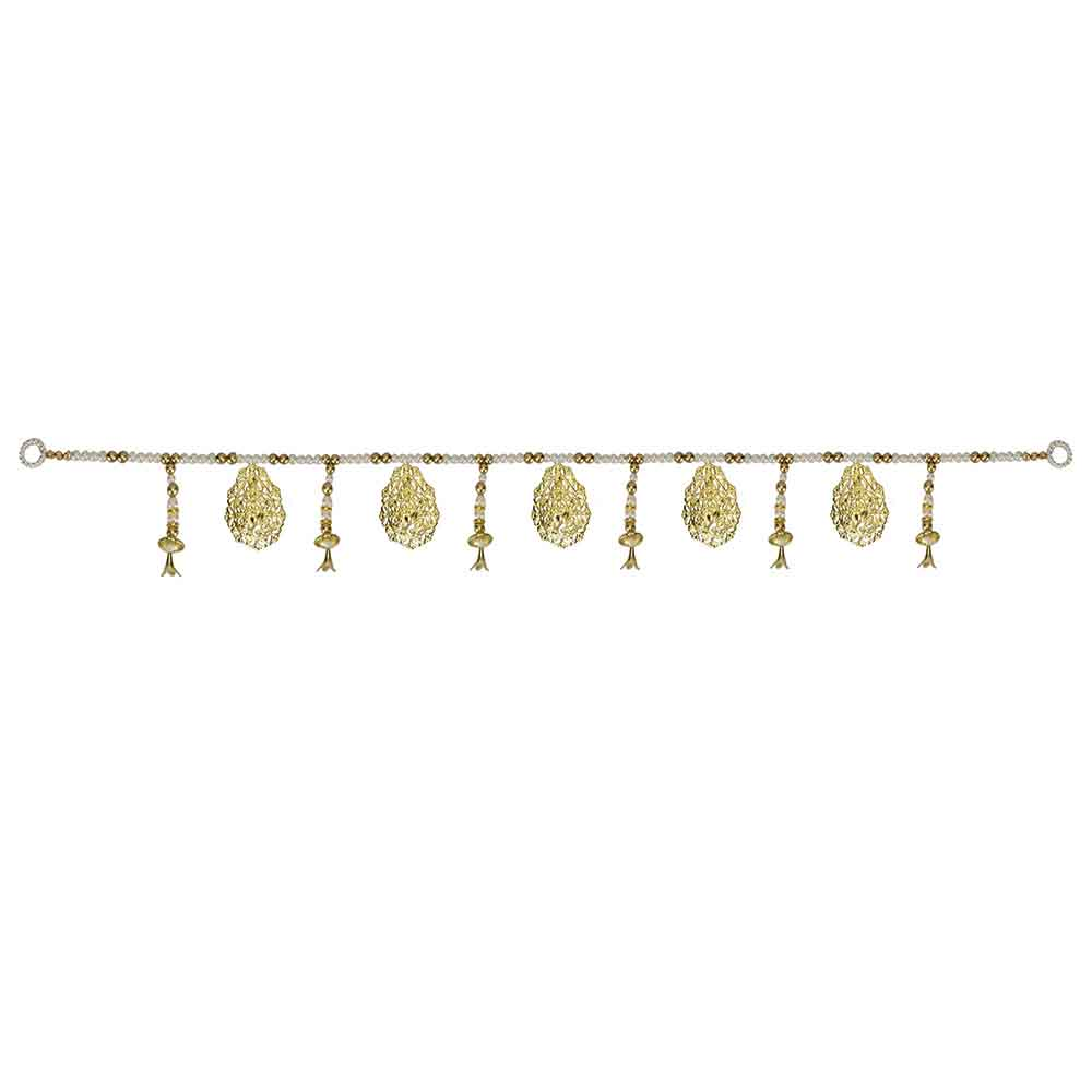 Other Diwali Gifts-Golden hangings n Pearl Toran