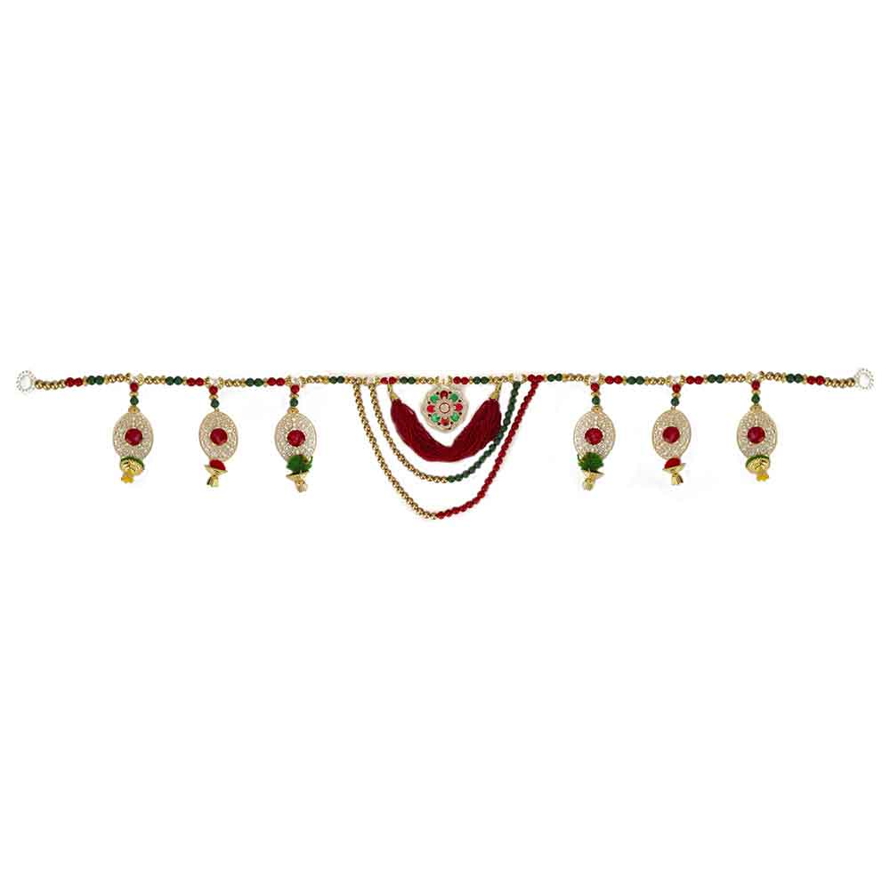 Other Diwali Gifts-Stone Embedded Golden Toran
