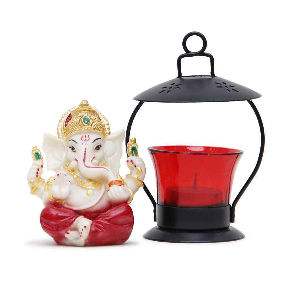 Idol Ganesha & T-light holder