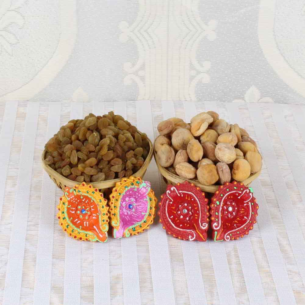 Apricot with Raisin and Earthen Diya