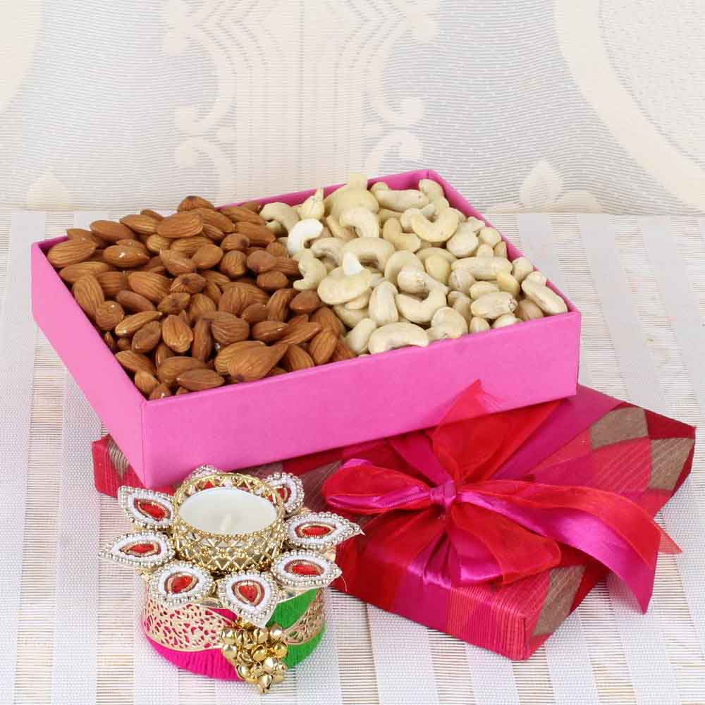 Almond and Cashew with Traditional Diya