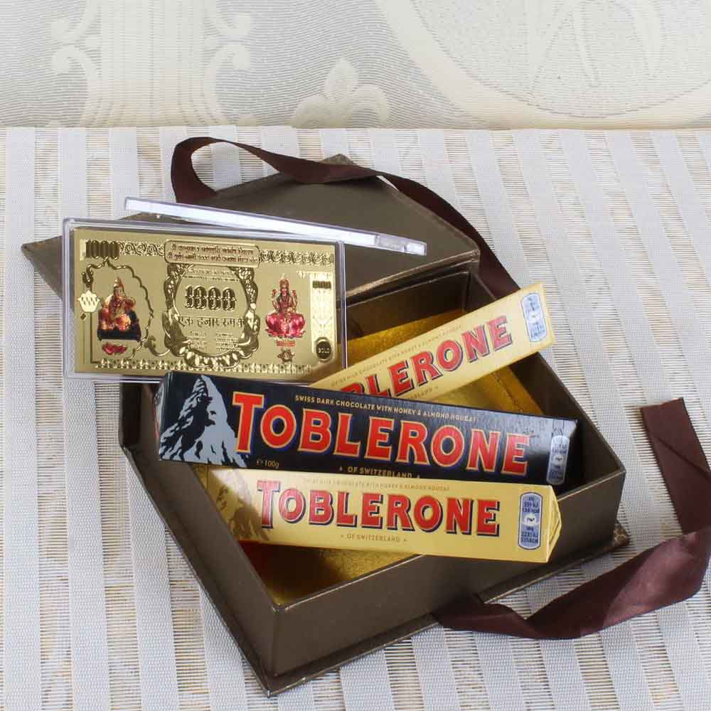 Toblerone Chocolate with Gold Plated Note