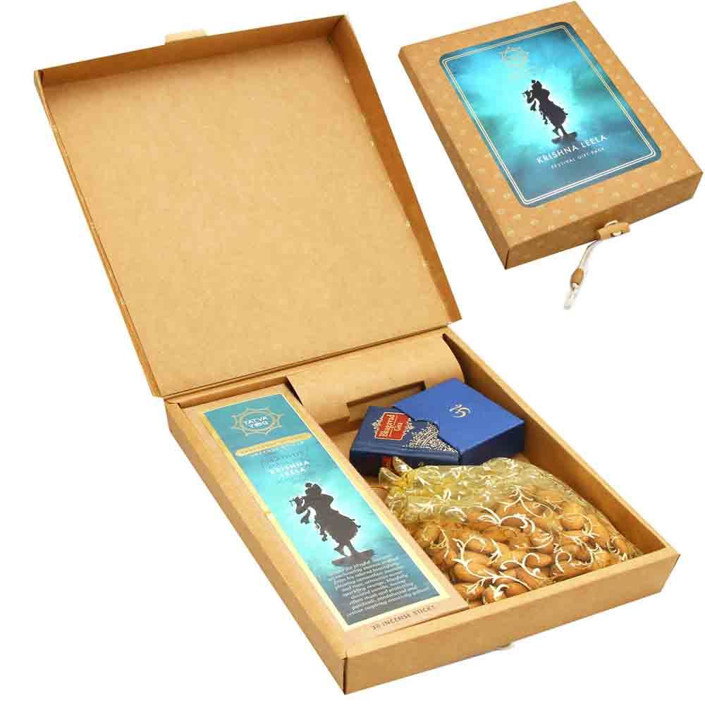 Diwali Gifts-Krishna Prem Almonds Gift Pack