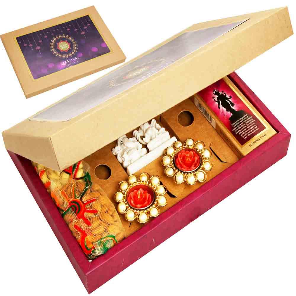 Diwali Gifts-Diwali/ Laxmi Almonds Cashews Gift Pack