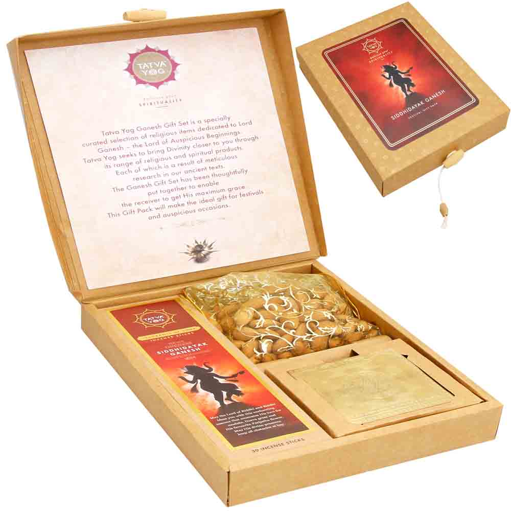 Diwali Gifts-Siddhi Vinayak Ganesha Almonds Gift Pack