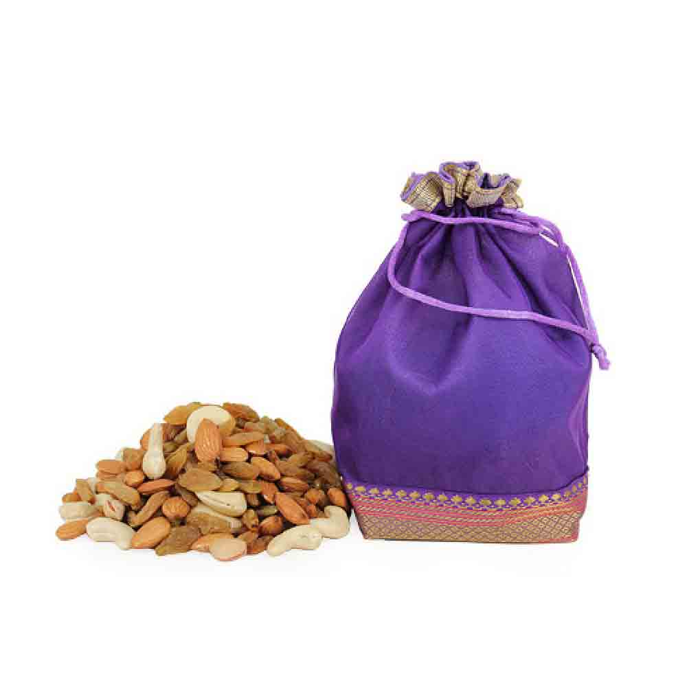 Potli of Dry Fruits Mixture - Diwali Gifts