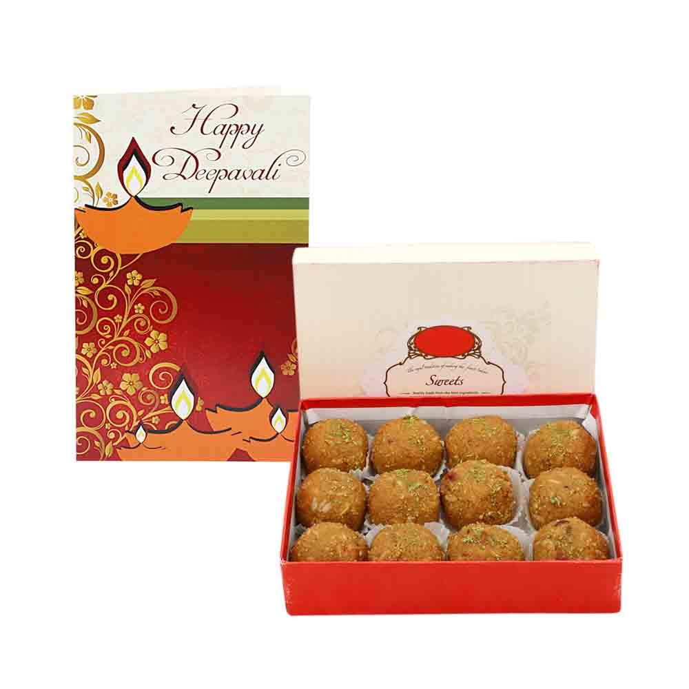 Diwali Mithai Boxes-1kg Besan Ladoo - Diwali Gifts