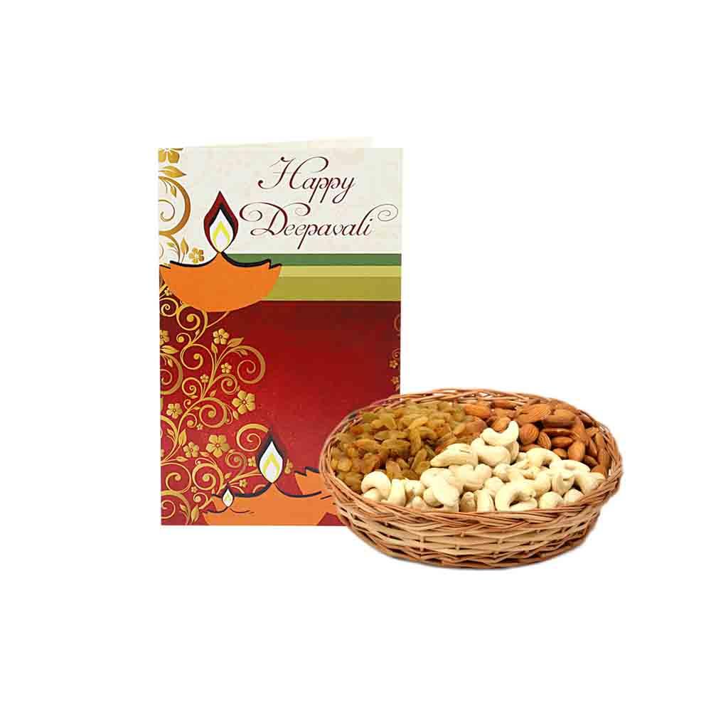 Diwali Dryfruits-Dryfruit Basket - Diwali Gifts