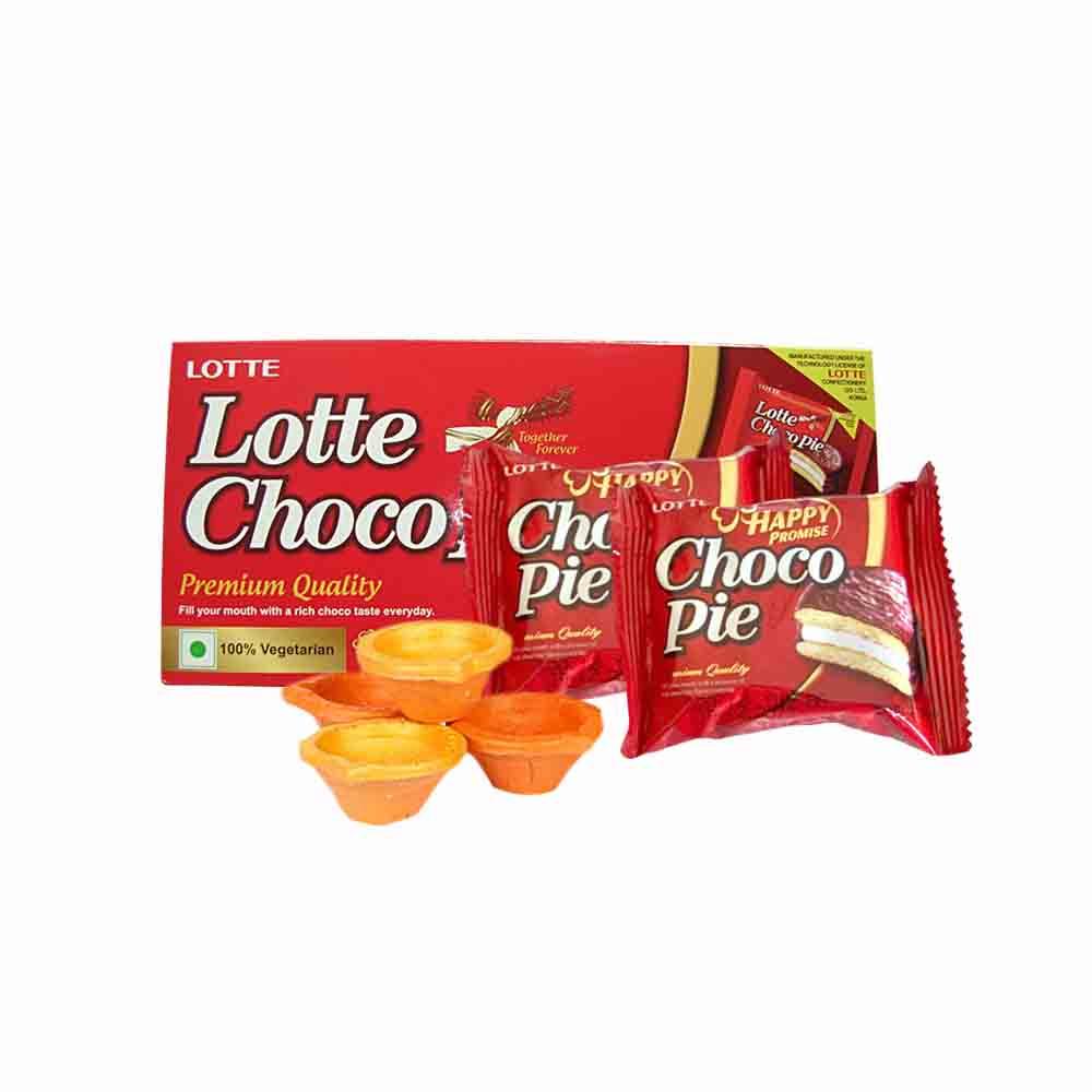 Choco Pie & Ethnic Diyas - Diwali Gifts