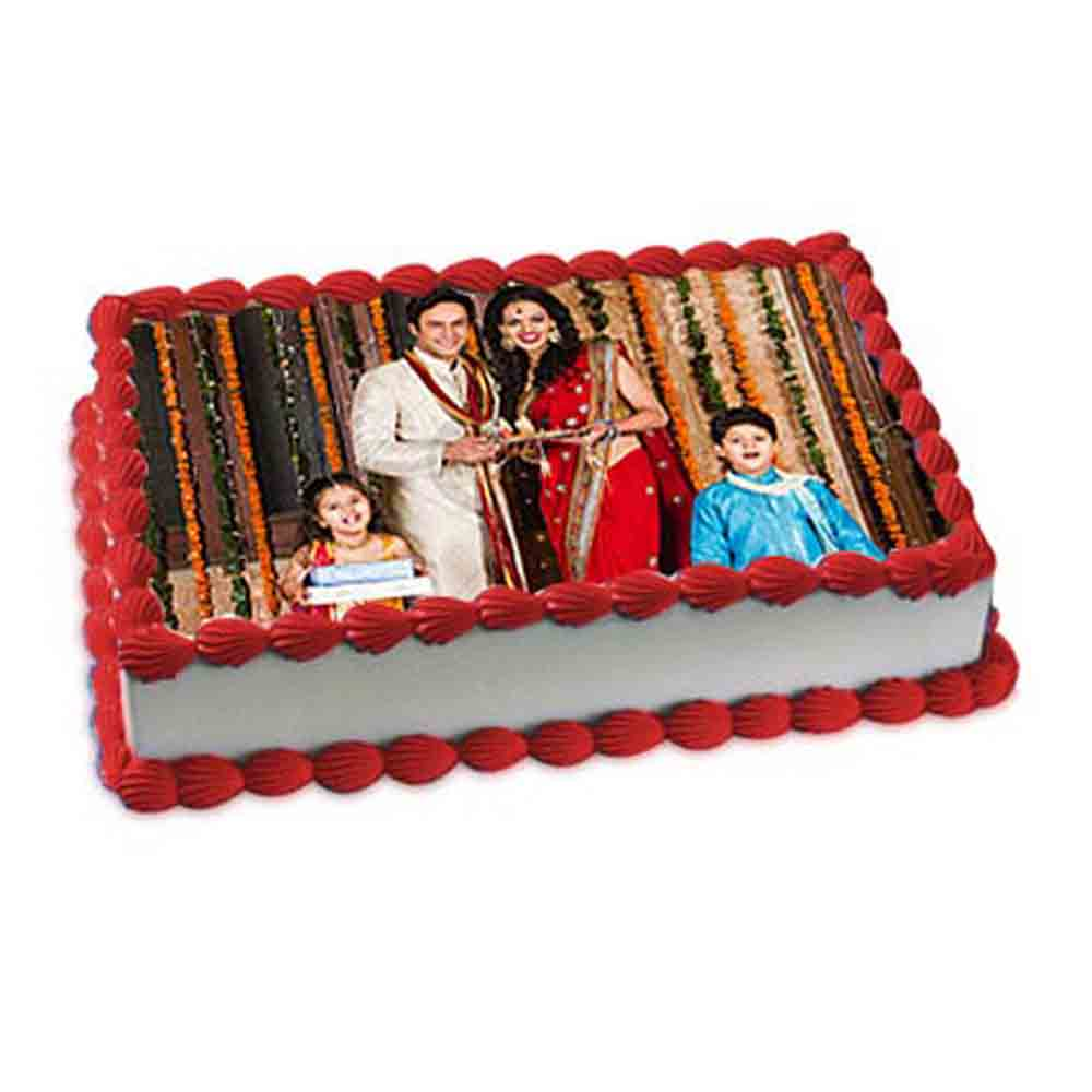 Colorful Photo Cake - Diwali Gifts