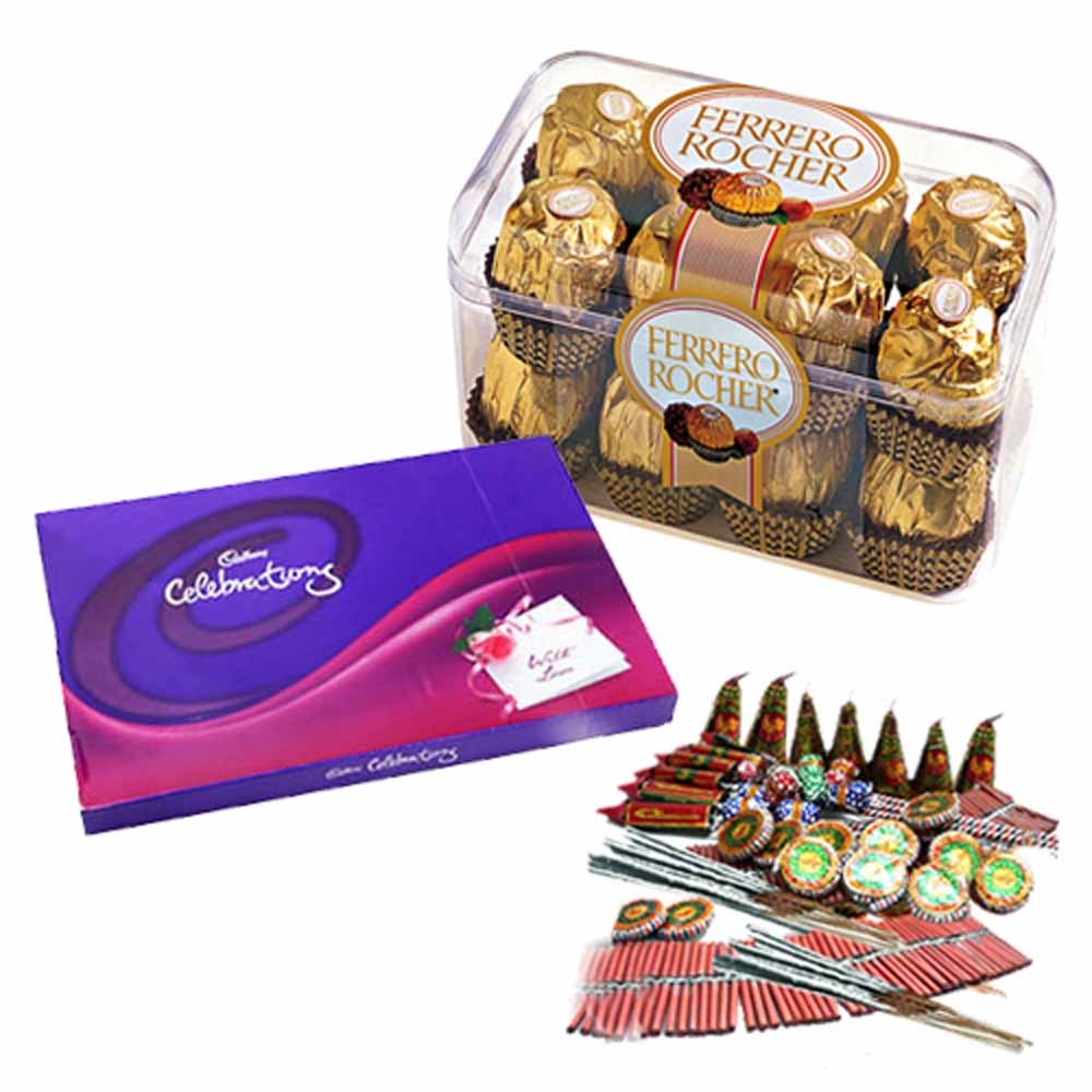 Diwali Crackers and Chocolates Combo