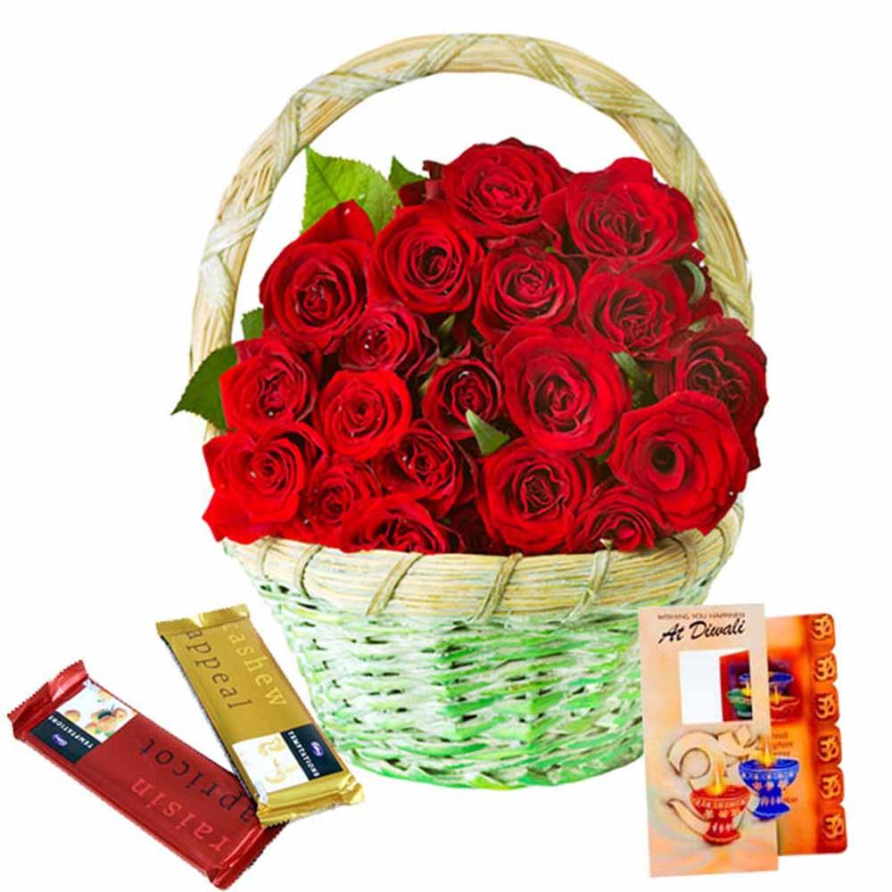 Roses n Chocolaty Diwali Combo !