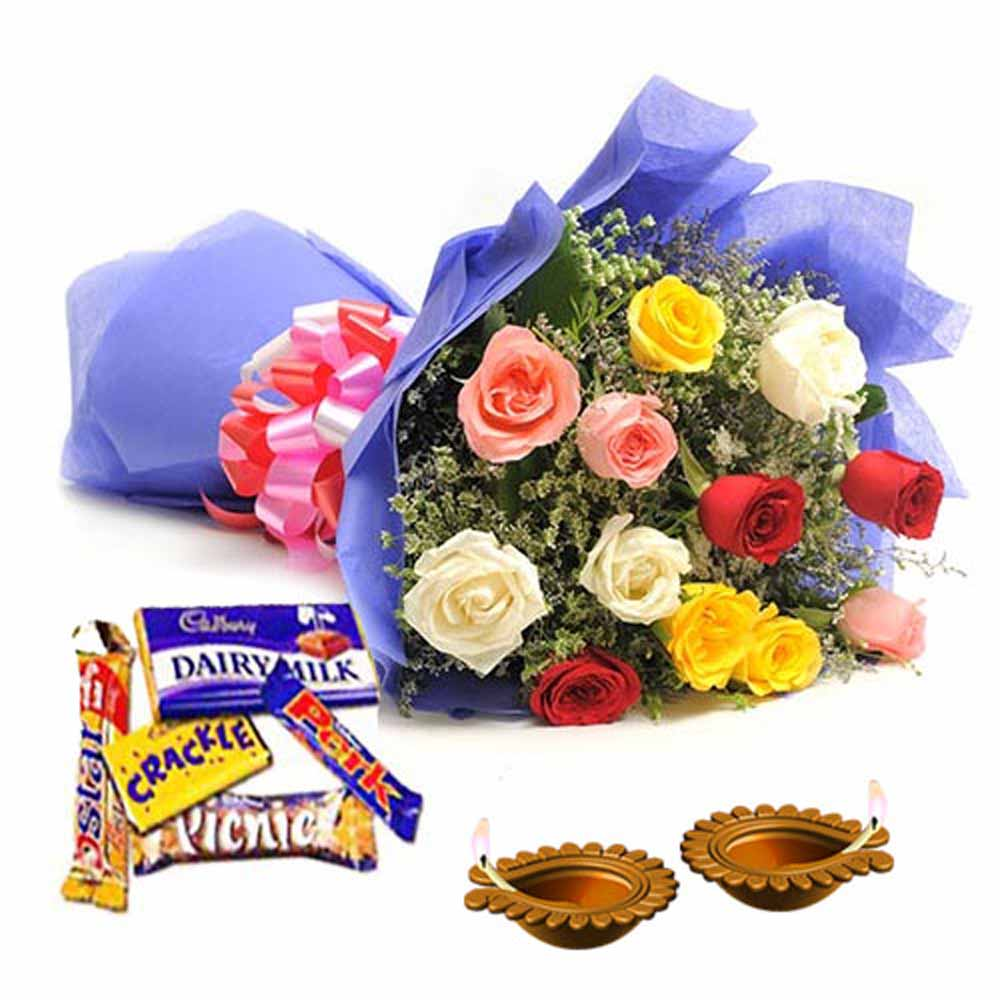Dipawali Deepak with Roses and Chocolates