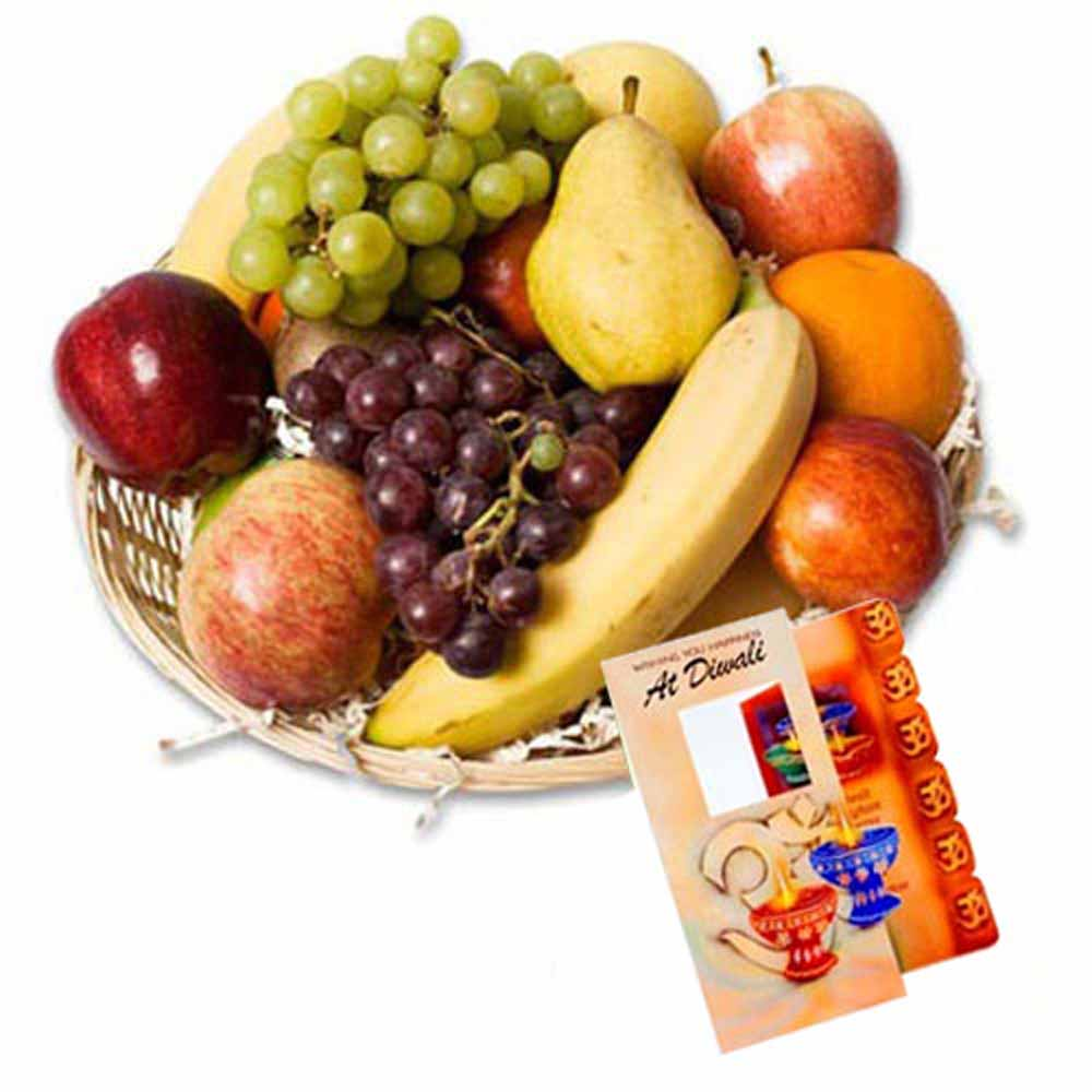 Fresh Fruits with Diwali Card