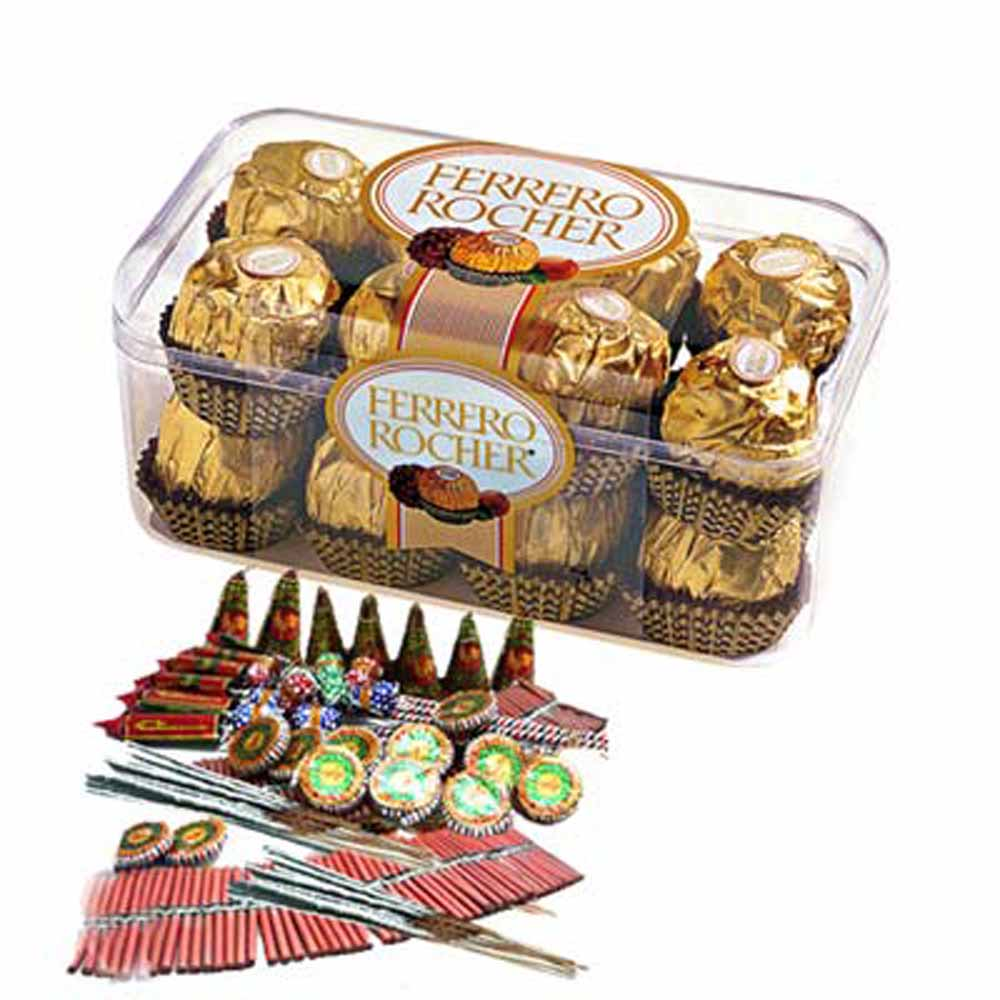 Ferrero Rocher with Crackers Diwali Combo