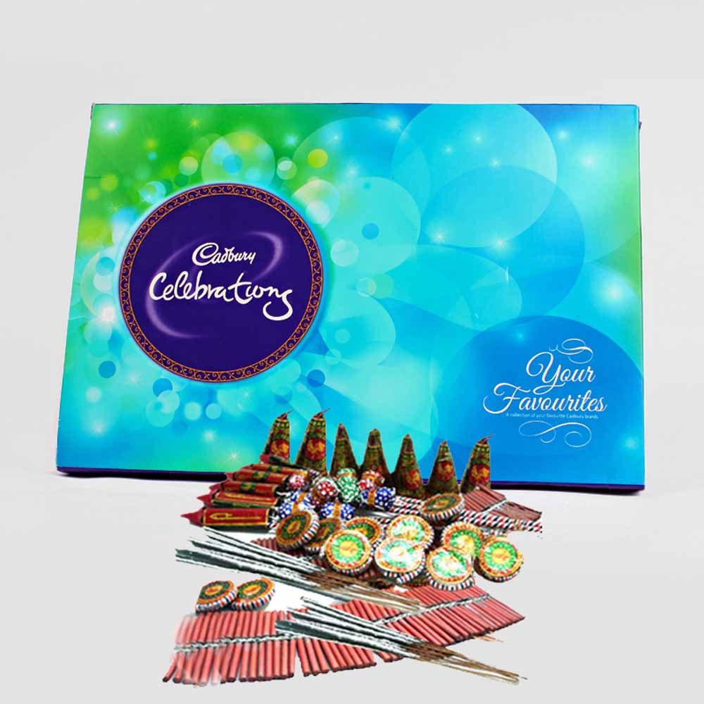 Cadbury Celebration Chocolate Pack with Diwali Fire Cracker
