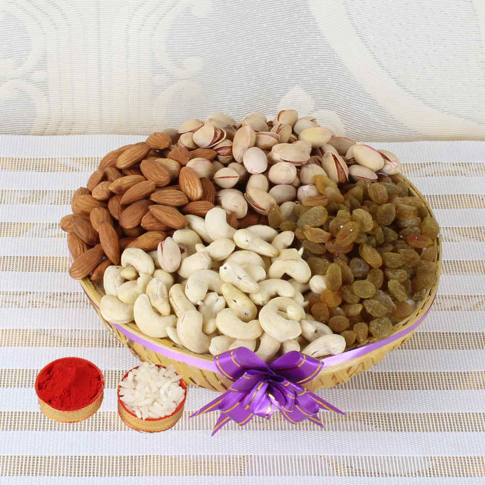 Dry Fruits-Bhai Dooj Same Day Delivery of Healthy Dry Fruits Basket