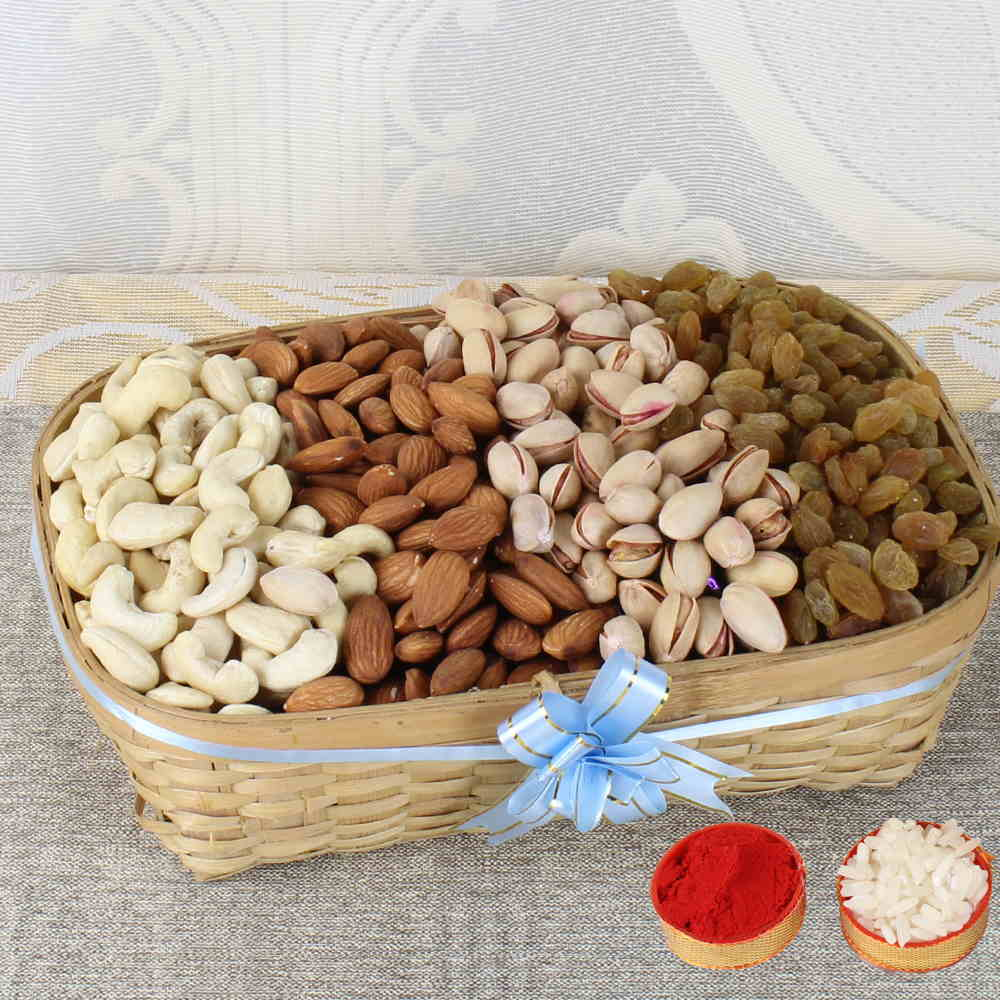 Dry Fruits-Bhai Dooj Express Gift of Basket Dryfruits