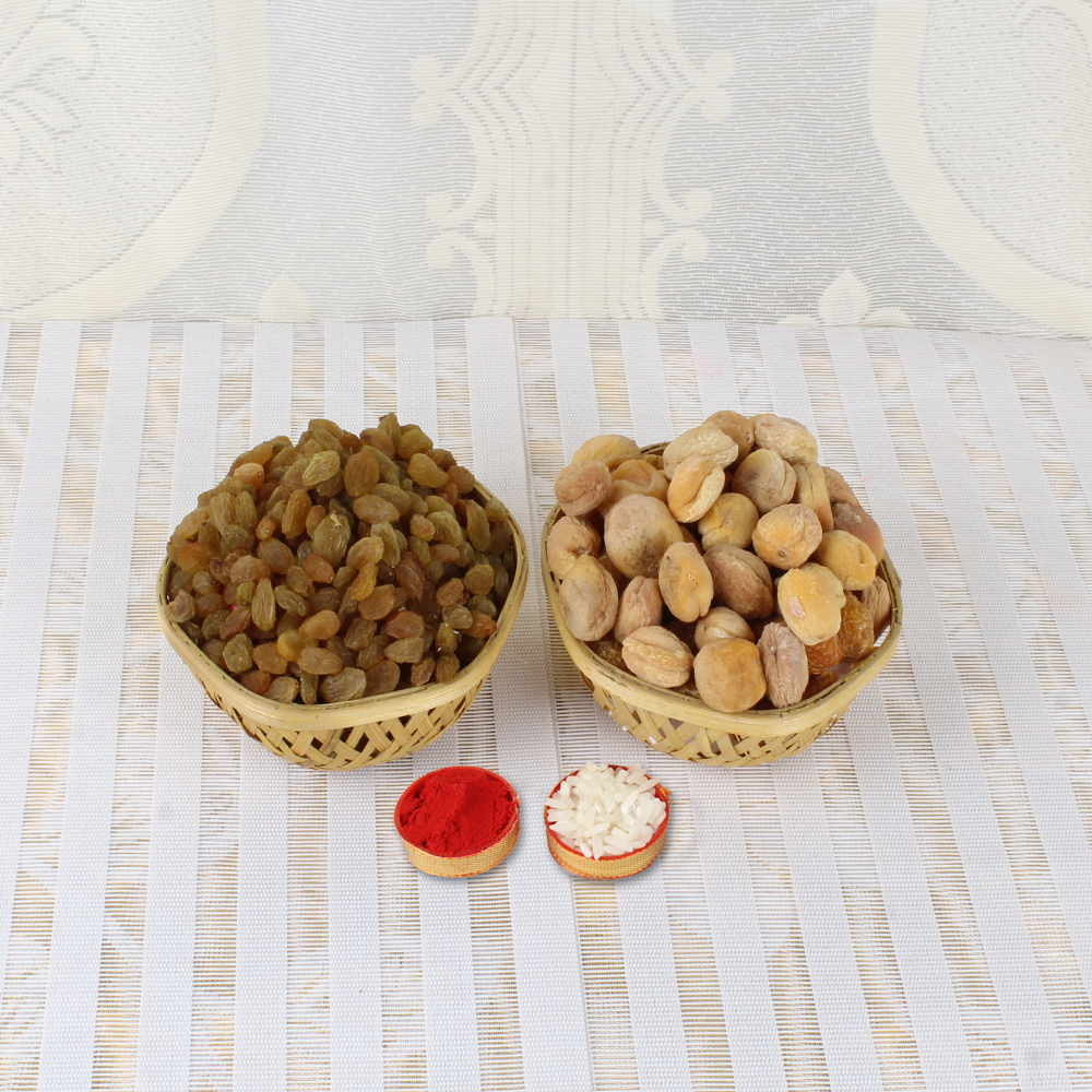 Bhai Dooj Same Day Gift of Raisins and Dry apricot