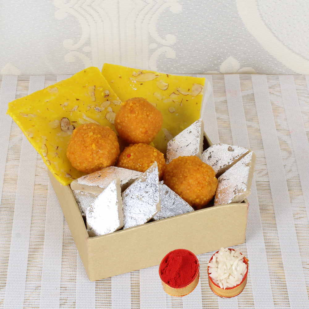 Bhai Dooj Same Day Delivery of Mix Mithai