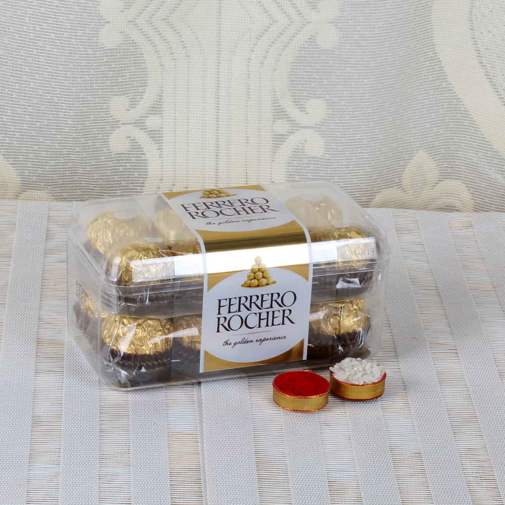 Bhai Dooj Same Day Delivery of Rocher Chocolates