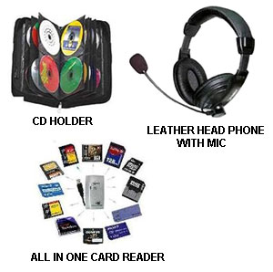 3 In 1 Offer - All in 1 Card Reader + 40 In 1 CD- Wallet + Stereo Headphone