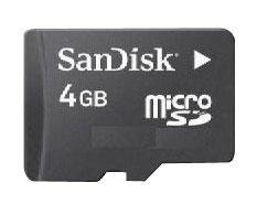 Sandisk MicroSD 4GB Card