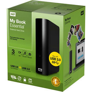 Western Digital My Book Essential 3 TB External Hard Disk