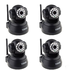 Tenvis Pan Tilt IP IR WIFI Night View Security Camera - Set of 4
