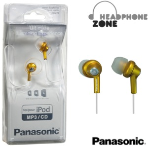 Panasonic In-Ear Canal Earphone Headphone for iPods & MP3