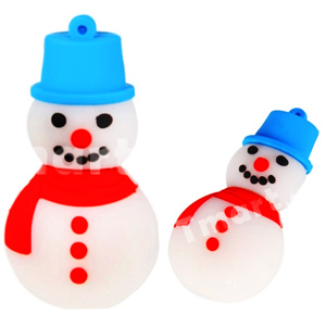 Microware Snowman Shape Pendrive