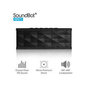 SoundBot SB571 12W Bluetooth wireless speaker (Black)