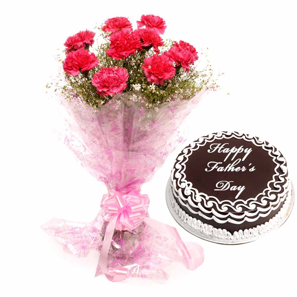 Fathers Day - Roses N Cake Combo