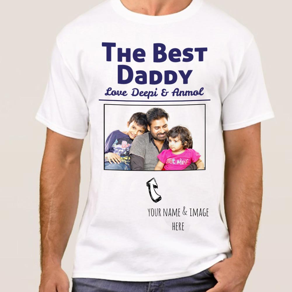 Photo and name printed personalized t shirt india for Personal t shirt printing