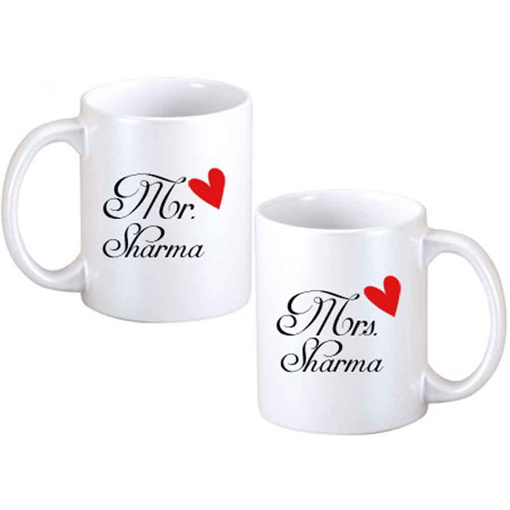 Father Day Mr. & Mrs. Personalized Couple Mugs