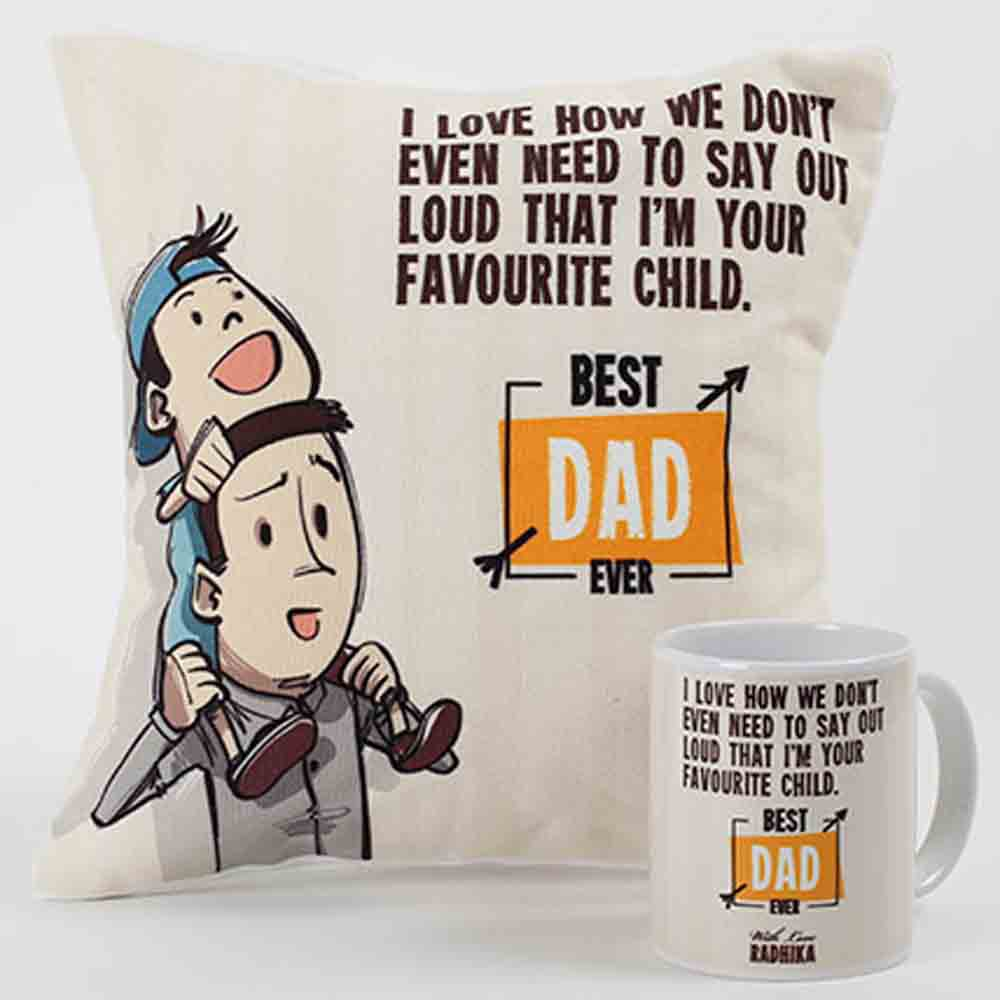 Best Dad Ever Mug And Cushion Combo