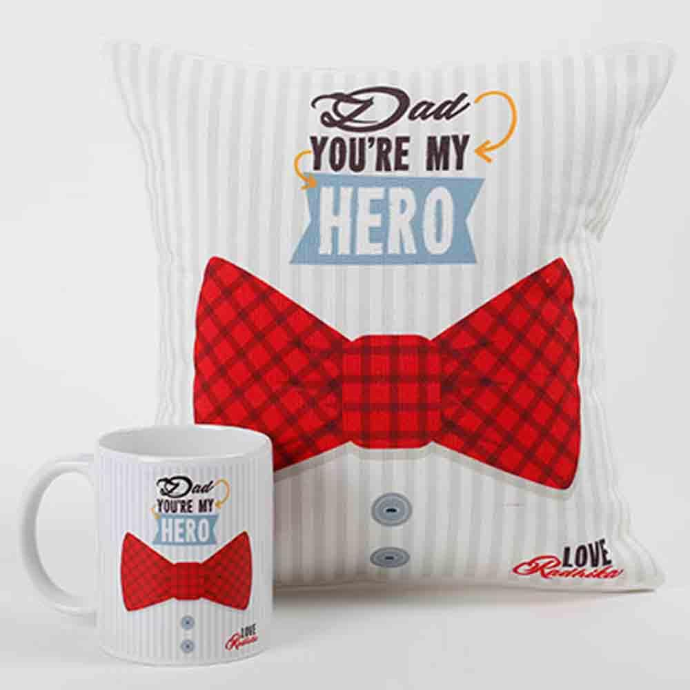 My Dad My Hero Mug And Cushion Combo