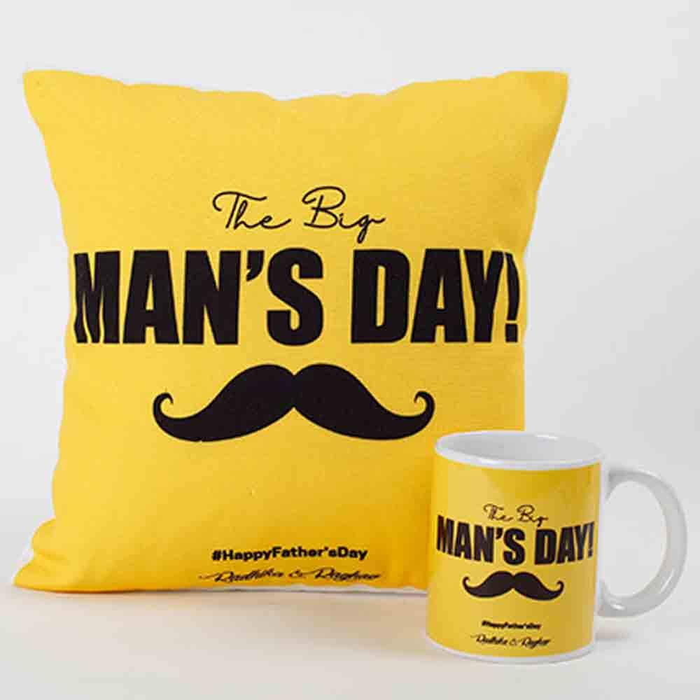 The Big Man Mug And Cushion Combo