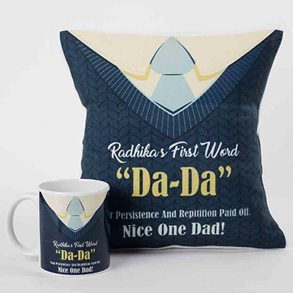 Memorable Moments Mug And Cushion Combo For Dad