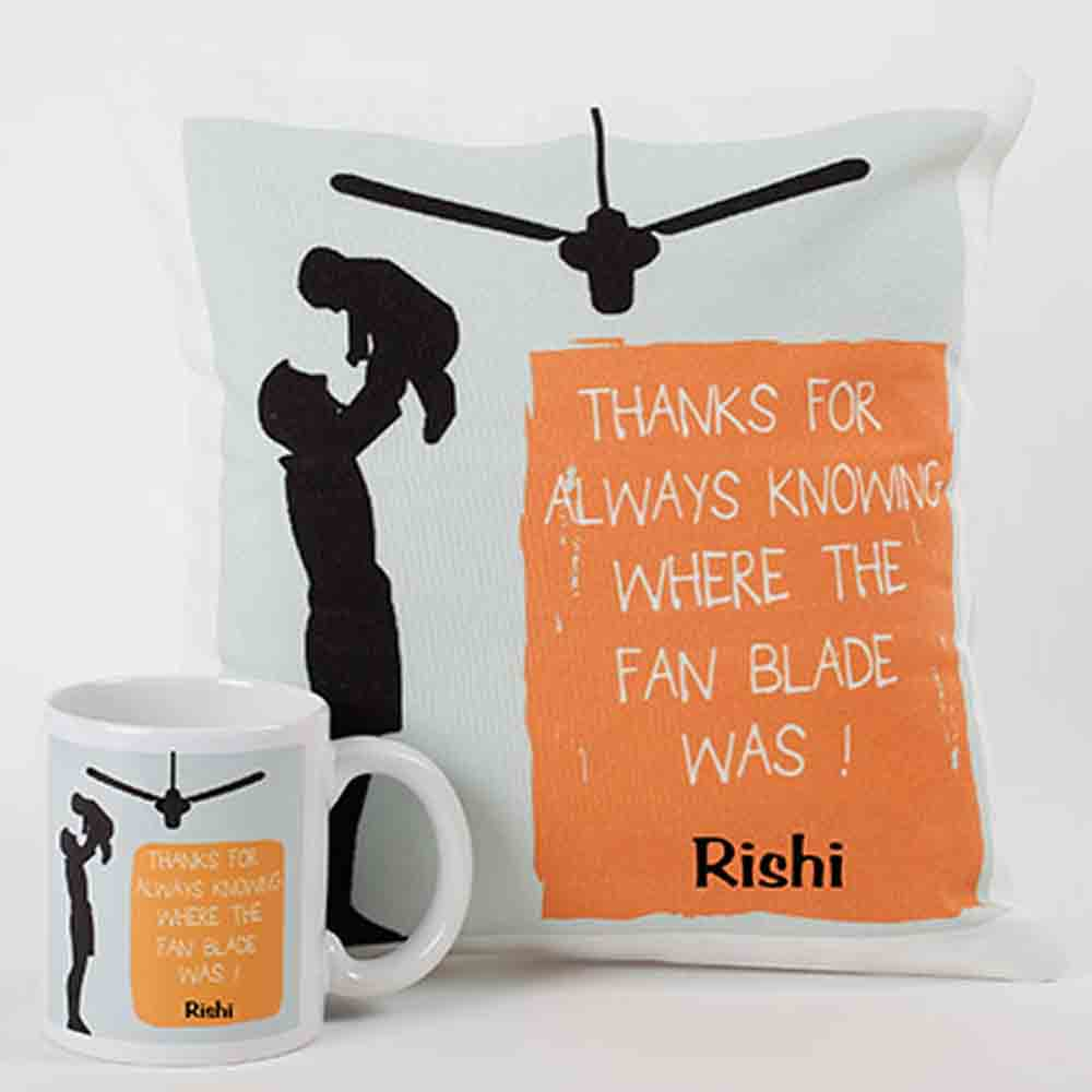 Loving Dad Mug And Cushion Combo