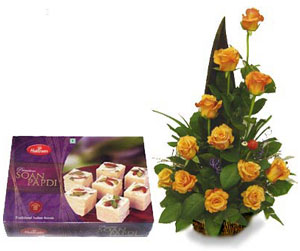 Soan Papdi & Yellow Roses