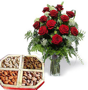 Roses & Dry fruits Combo