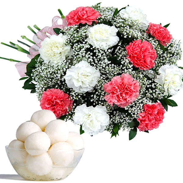 Floral Celebration with Rasgullas