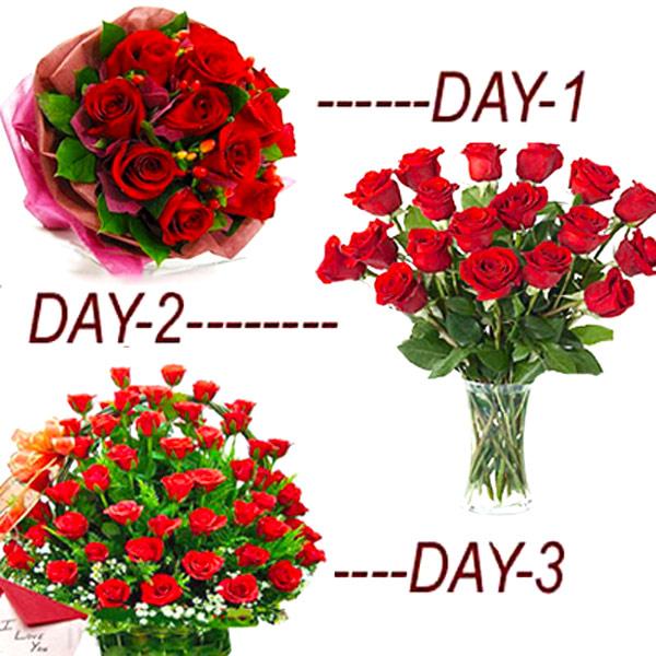 3 Fresh Rosy Days