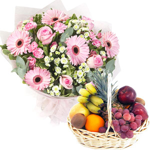 Fruit Hampers-Pink Sweet And Healthy Treat
